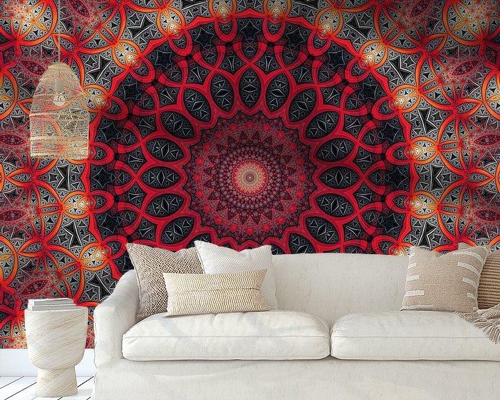 Sfeerimpressie behang: Mandala tender touch van Marion Tenbergen