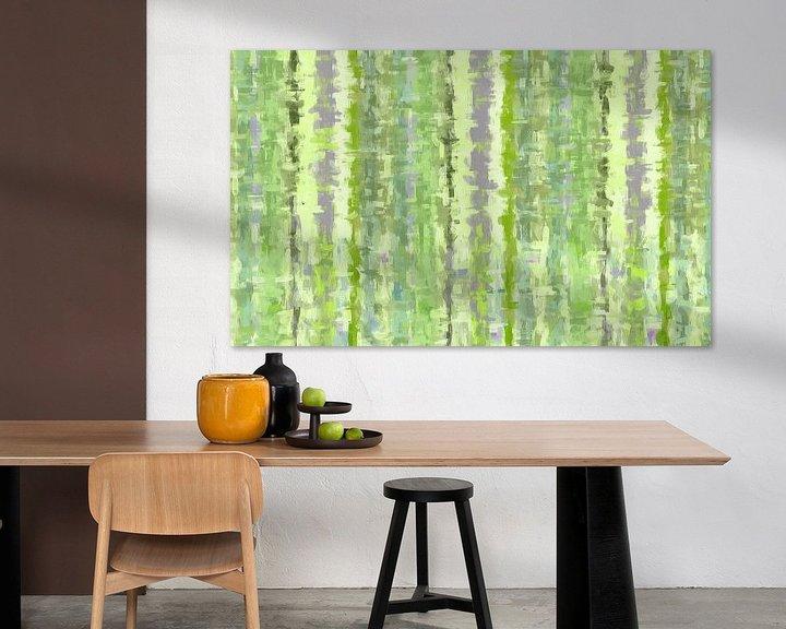 Sfeerimpressie: Groene kunst abstract van Marion Tenbergen