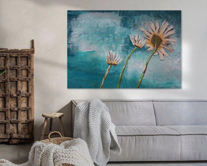 Beispiel: Good Morning Flower Türkis von Susanne A. Pasquay