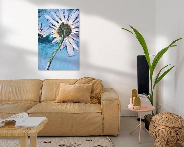 Beispiel: Good Morning Flower Hellblau Nahaufnahme von Susanne A. Pasquay