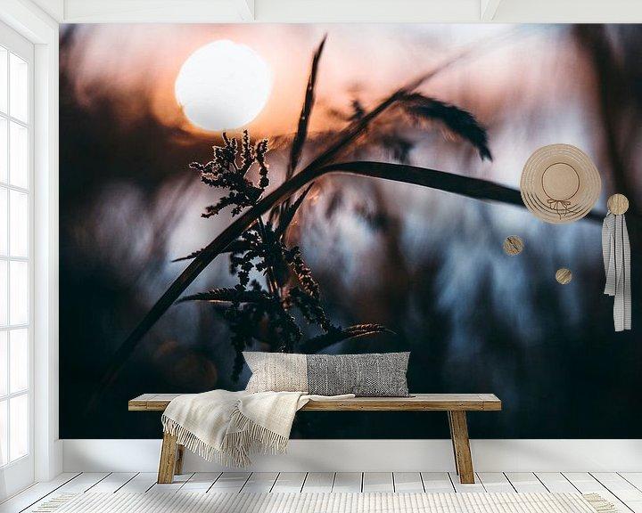 Sfeerimpressie behang: Zonsondergang van Chris Koekenberg