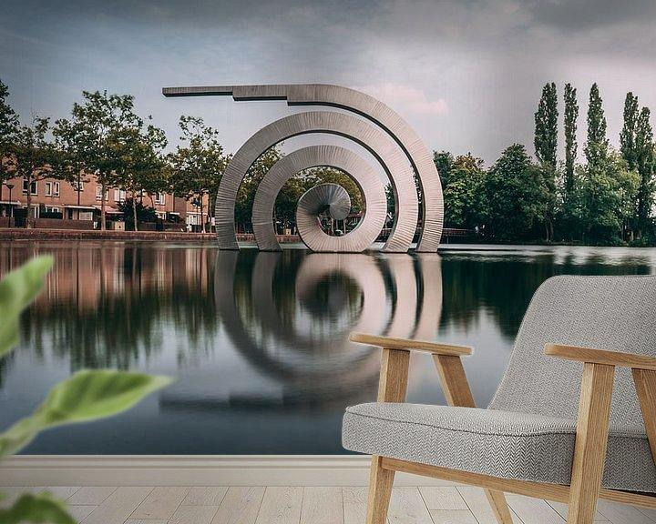 Sfeerimpressie behang: Spiraal van Chris Koekenberg