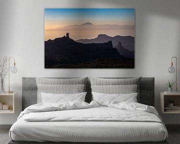 Zonsondergang vanop Pico de las Nieves