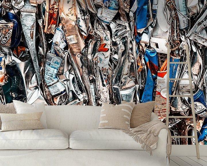 Sfeerimpressie behang: Blik op het recyclen van blik van Aad Clemens