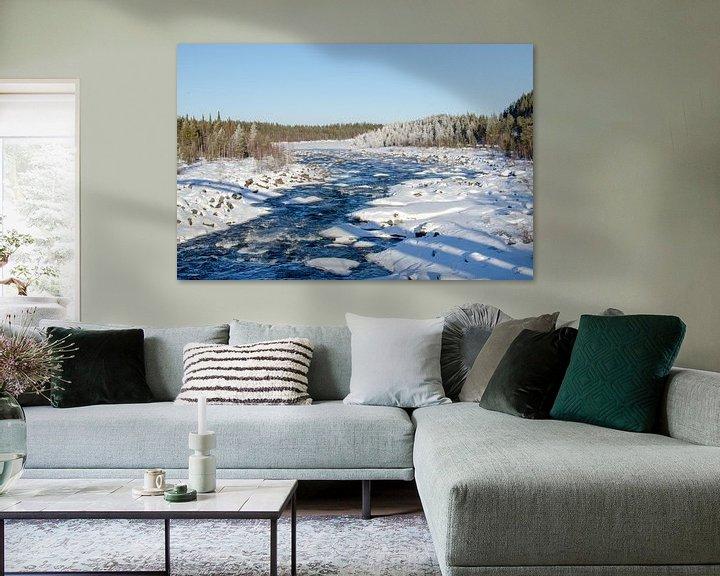Sfeerimpressie: Winterse sferen bij de rivier in Zweeds Lapland van Anouk Hol