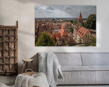Altstadt von Nürnberg, Deutschland, vom Schloss aus gesehen von Joost Adriaanse