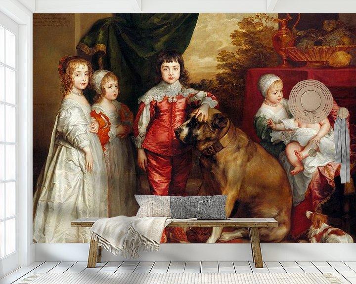 Beispiel fototapete: Fünf älteste Kinder Karls I., Anthony van Dyck