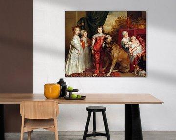 Fünf älteste Kinder Karls I., Anthony van Dyck