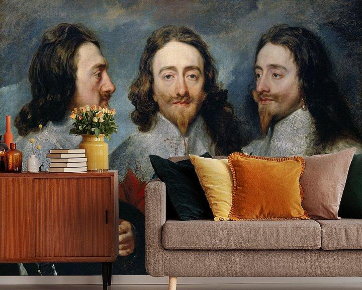 Beispiel fototapete: Karl I. (1600-49), Anthony van Dyck.