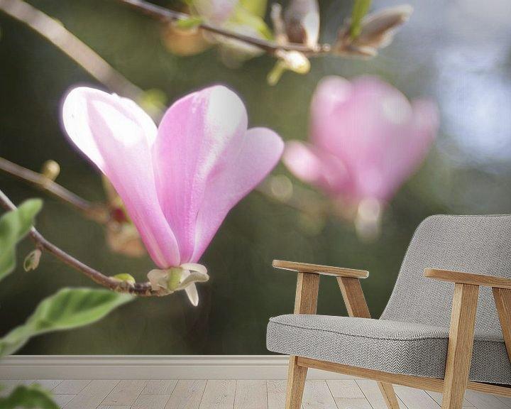 Sfeerimpressie behang: Rose blosem met bokeh van Jeroen de Vries