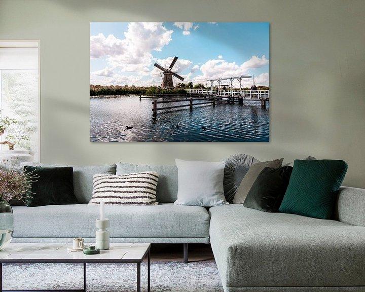 Beispiel: Windmühlen auf dem Kinderdijk. von Brian Morgan