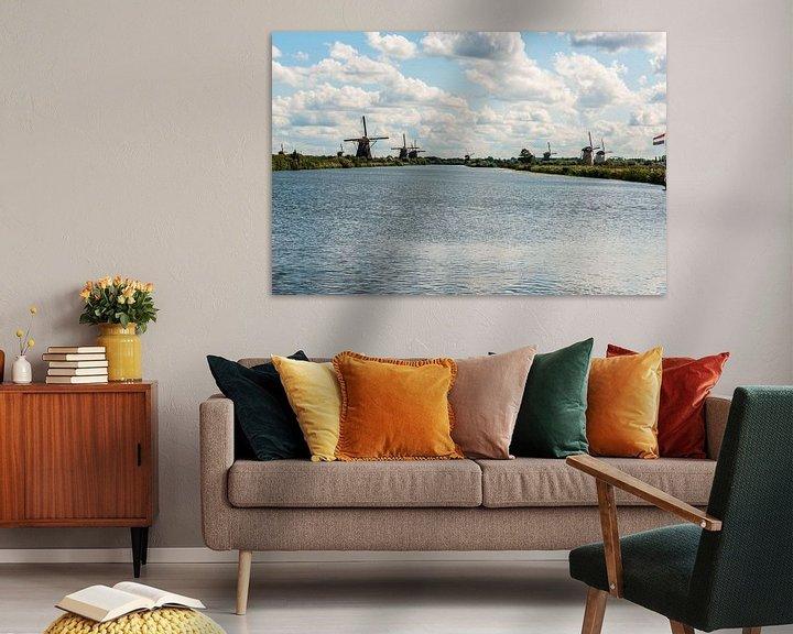 Sfeerimpressie: Kinderdijk Windmolens. van Brian Morgan