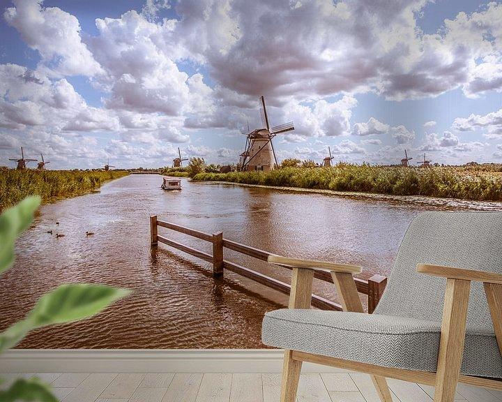 Beispiel fototapete: Kinderdijk Holland. von Brian Morgan