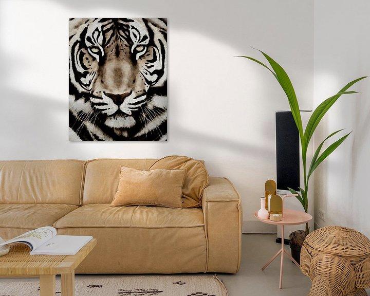 Sfeerimpressie: Portret van een tijger van Jan Keteleer
