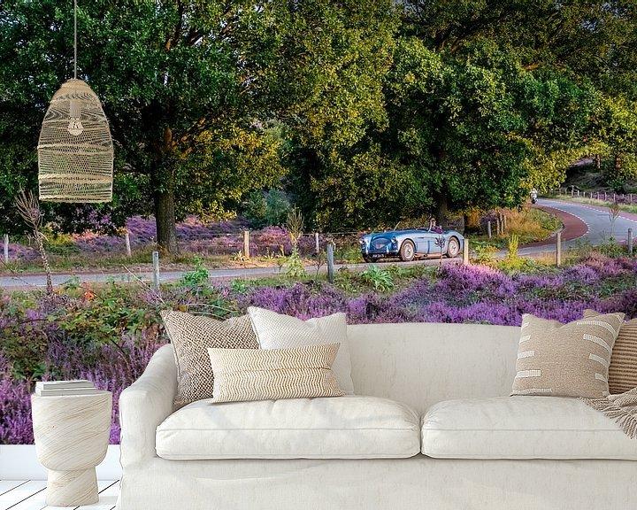 Sfeerimpressie behang: Heide in bloei op de Posbank van Marcel Krijgsman