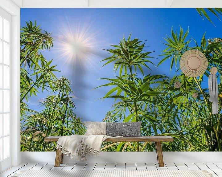 Sfeerimpressie behang: hennep van Günter Albers