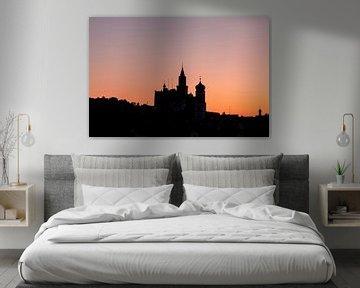 Morgenröte in Sigmaringen von Jiri Viehmann