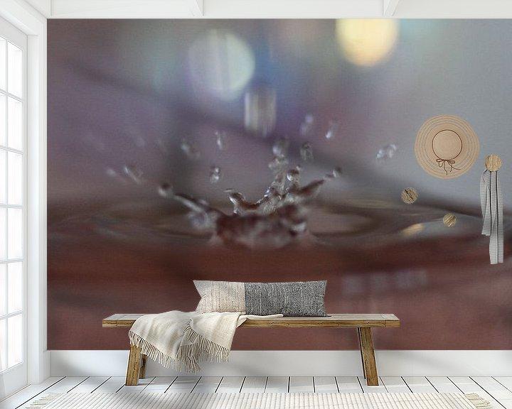 Sfeerimpressie behang: SPLASH 6 van Jeroen de Vries