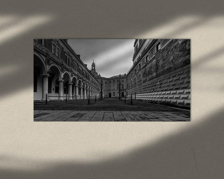 Sfeerimpressie: Binneplaats Stallhof Residentzschloss van Stephan van Krimpen
