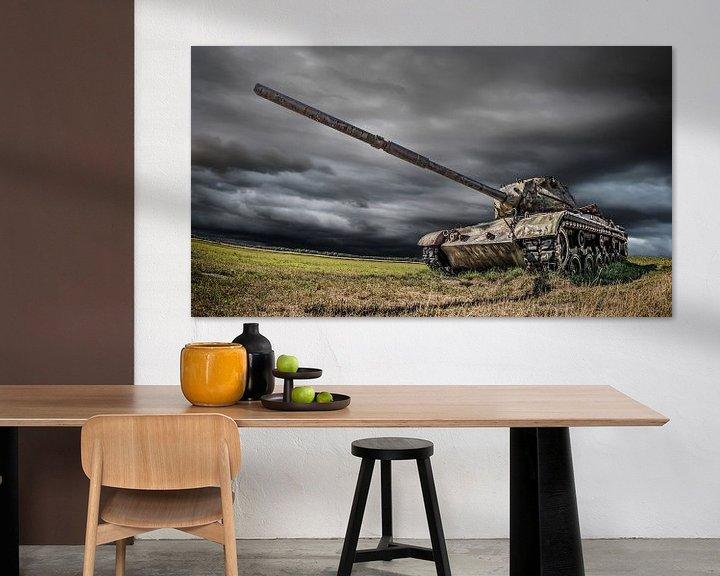Sfeerimpressie: Oude M47 Tank van Günter Albers