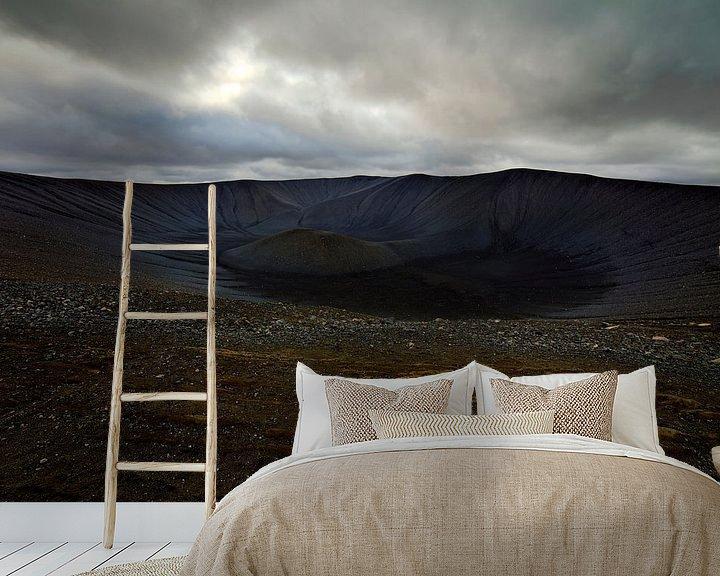 Sfeerimpressie behang: Hverfjall vulkaan te IJsland van Anton de Zeeuw