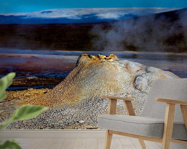 Sfeerimpressie behang: Hveravellir te IJsland van Anton de Zeeuw