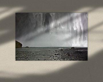 Skógafoss waterval te IJsland