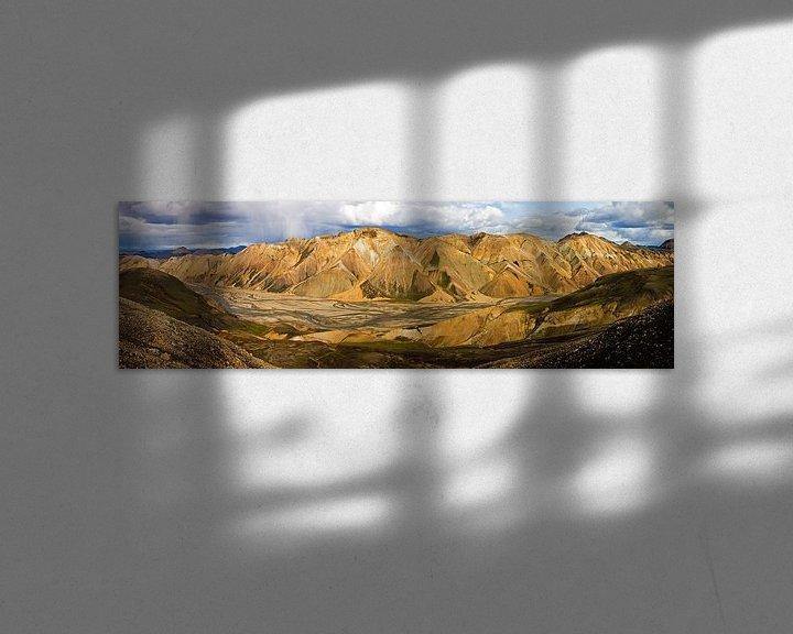 Sfeerimpressie: Panorama Landmannalaugar te IJsland van Anton de Zeeuw