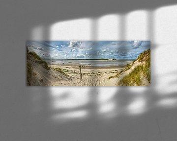 De Slufter wandelpad panorama