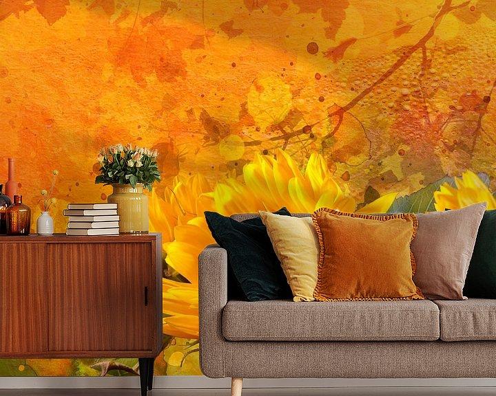 Beispiel fototapete: Sonnenblumen von Andreas Wemmje