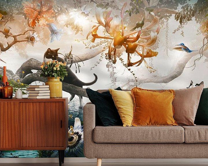 Sfeerimpressie behang: Electric Jungle van Jesper Krijgsman