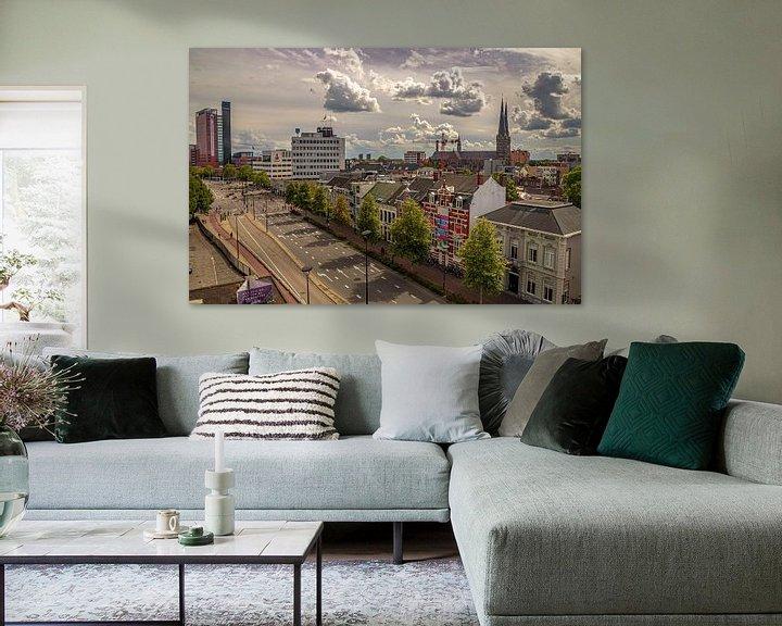 Sfeerimpressie: Skyline Tilburg  vanaf de Spoorlaan van Freddie de Roeck
