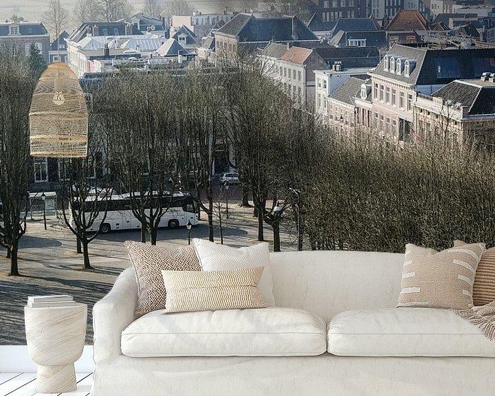 Sfeerimpressie behang: Zicht op de Bossche parade vanaf het dak van de Sint-Jan. van mooidenbosch