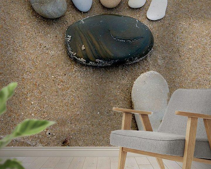 Impression: Des pas de pierre sur la plage. sur Anita Lammersma
