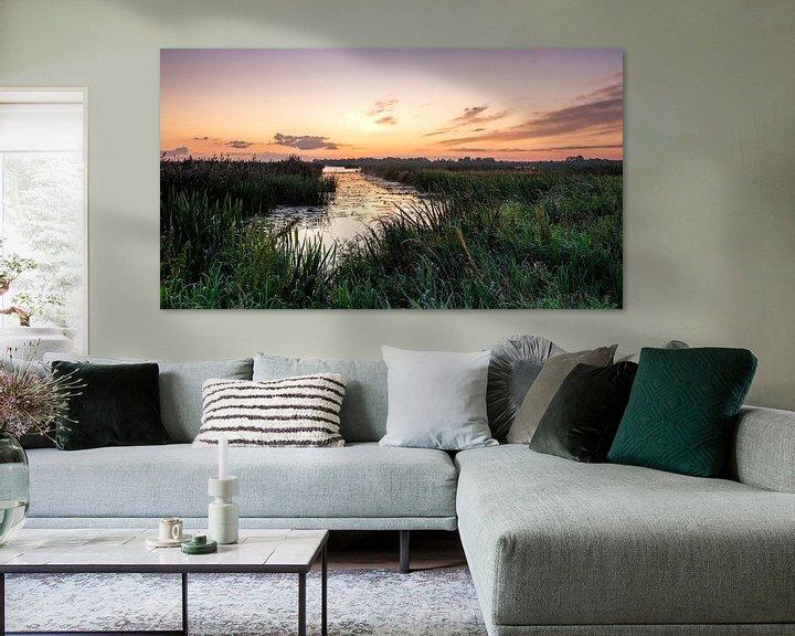 Sfeerimpressie: Kleurenspektakel voor zonsopkomst in De Onlanden van R Smallenbroek