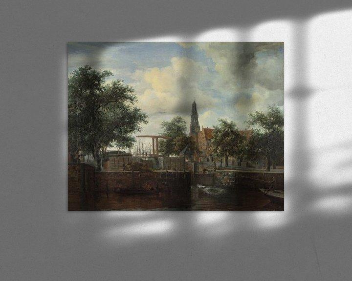Beispiel: Die Schleuse Haarlem, Amsterdam, Meindert Hobbema