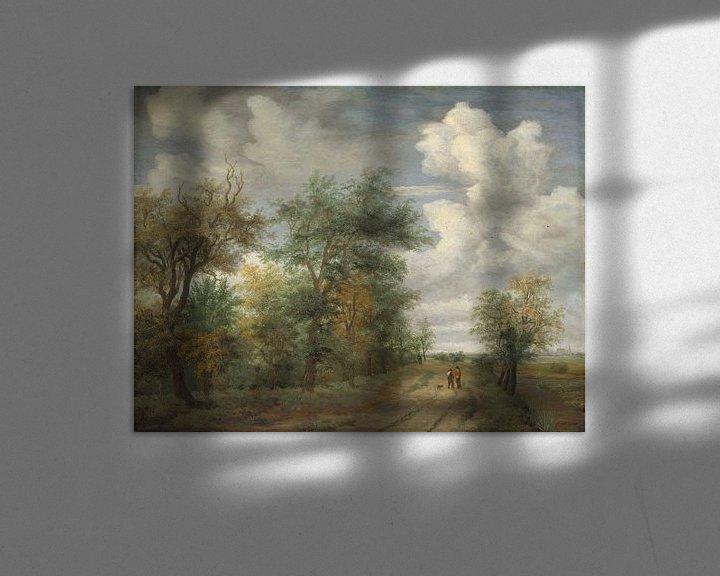 Beispiel: Eine Waldlandschaft mit Figuren, Meindert Hobbema
