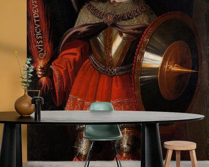 Beispiel fototapete: Der Erzengel Michael, Francisco de Zurbarán