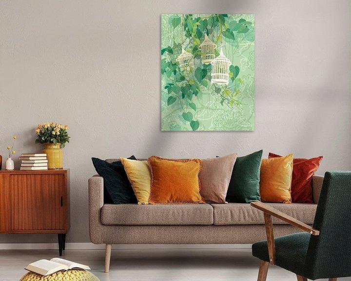 Sfeerimpressie: Drie-eenheid in groen van Ingrid Joustra