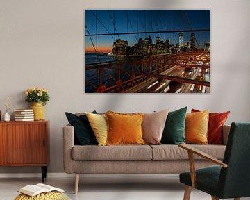 Brooklyn Bridge, New York van Mariska de Groot