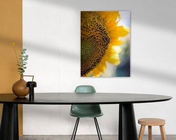 Bij op een Zonnebloem van Art By Dominic