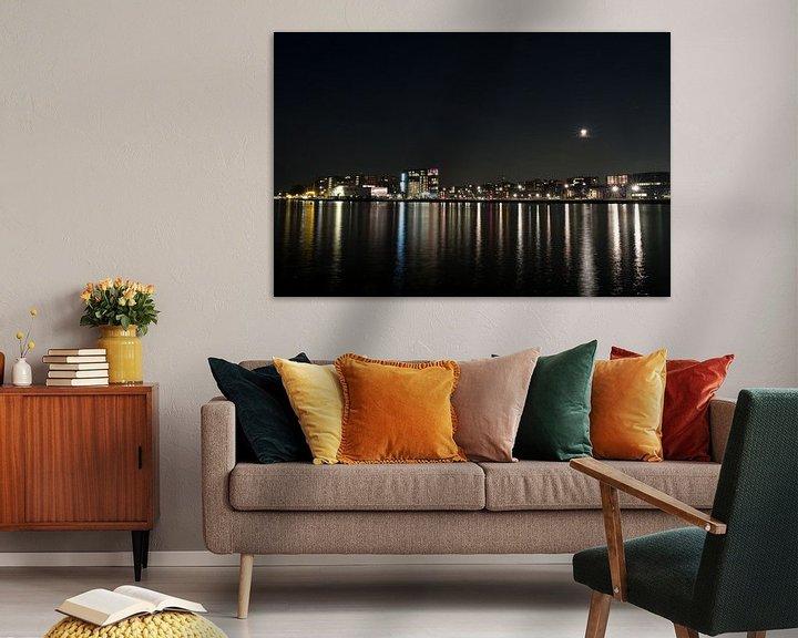 Beispiel: Mondfinsternis über Amsterdam von Mees Zijlker