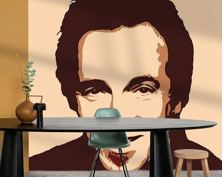Sfeerimpressie behang: Bruce Springsteen - The Rising portret van Jarod Art
