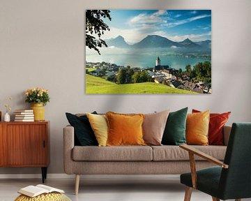 Ochtend in Sankt Wolfgang in Oostenrijk