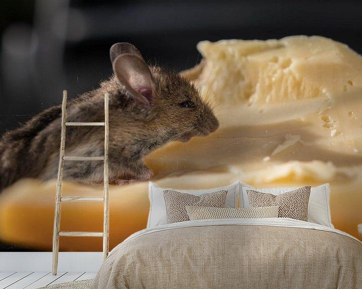 Sfeerimpressie behang: Muis met kaas van Gerrit van Leeuwen
