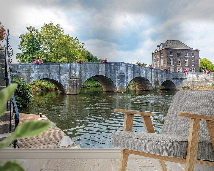Sfeerimpressie behang: Steenenbrug Roermond van Jaap Mulder