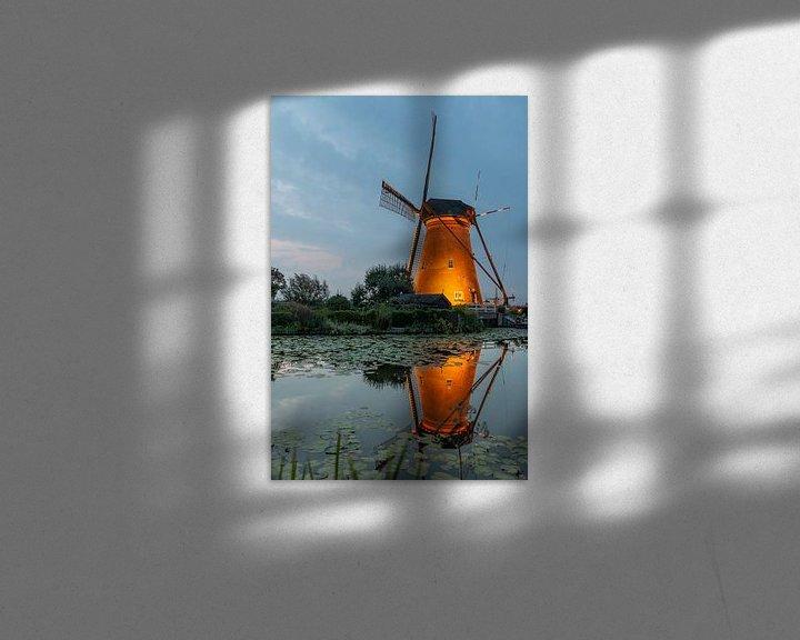 Sfeerimpressie: Kinderdijk in de spotlights van Mark den Boer