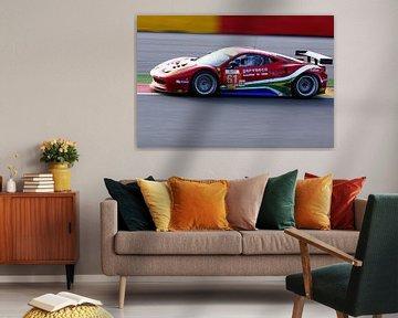 Ferrari sur la bonne voie Spa Francorchamps sur MSP Canvas