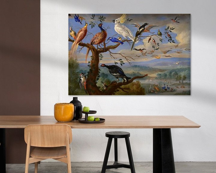 Beispiel: Exotische Vögel Brafa, Jan van Kessel