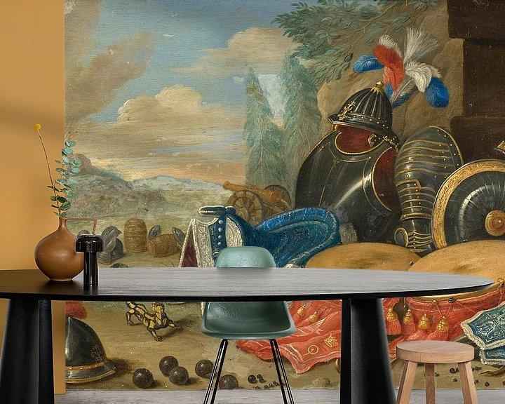 Beispiel fototapete: Embleme des Krieges, Jan van Kessel